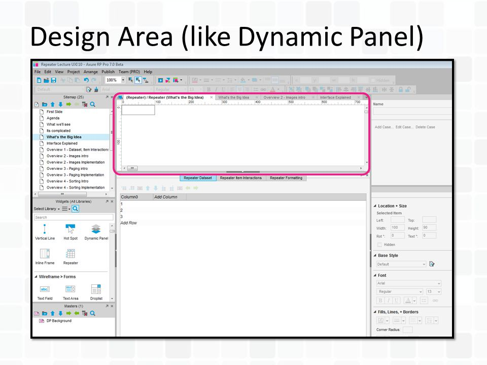 Design Area (like Dynamic Panel)