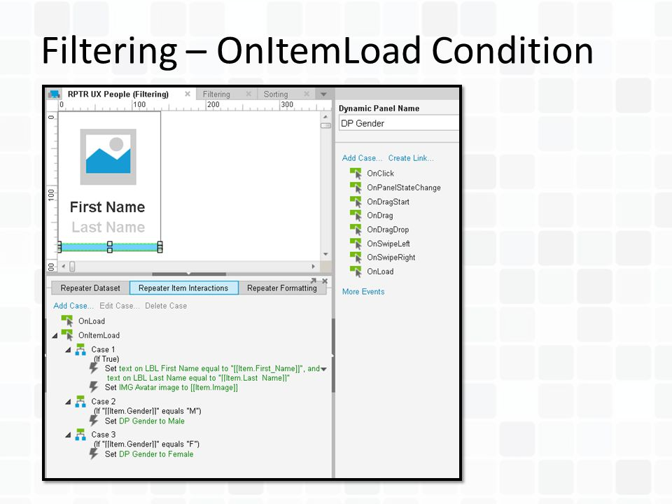 Filtering – OnItemLoad Condition