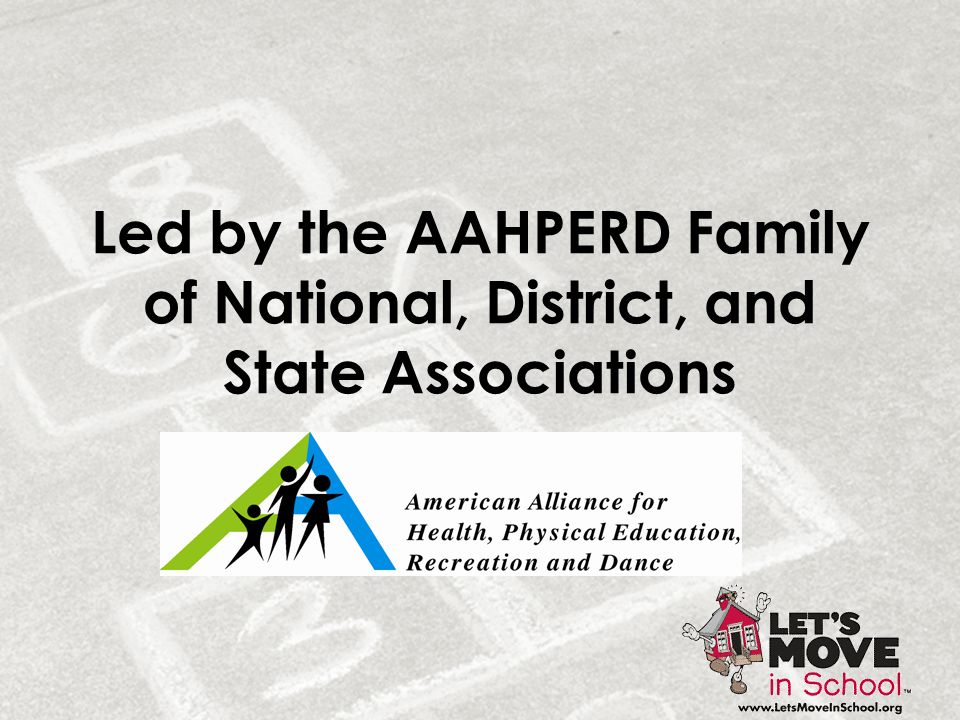 Led by the AAHPERD Family of National, District, and State Associations