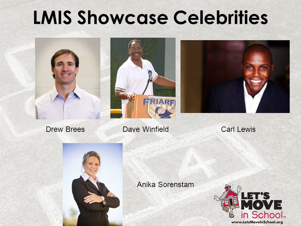 LMIS Showcase Celebrities Drew BreesCarl LewisDave Winfield Anika Sorenstam