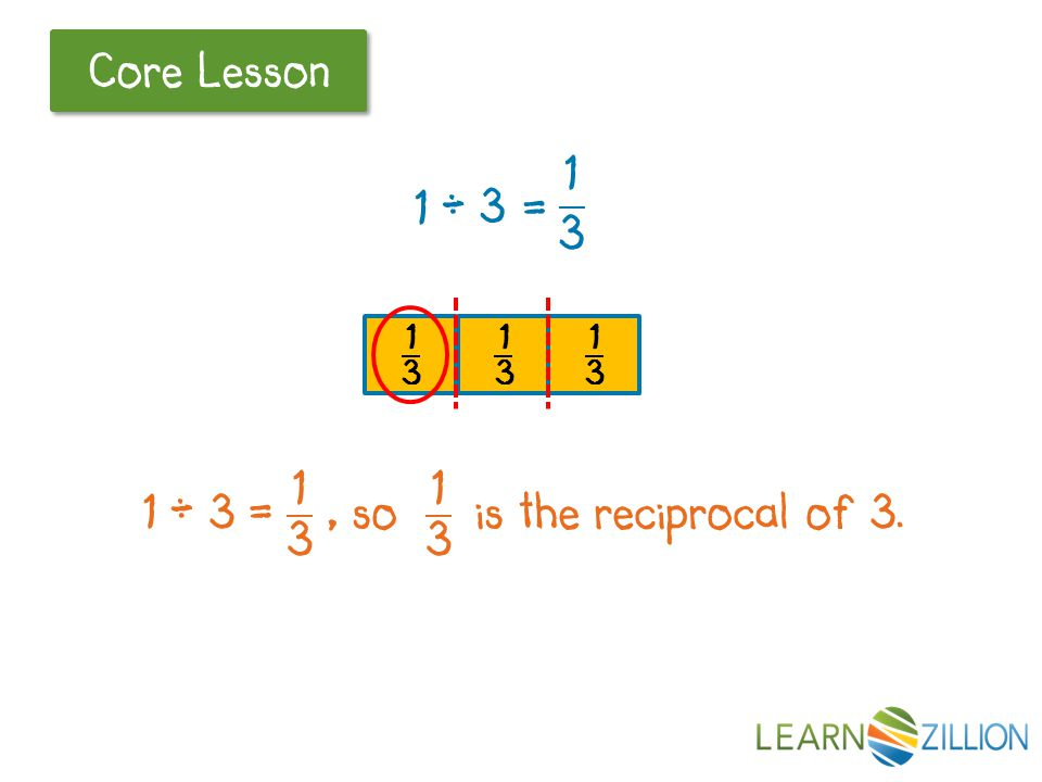 Let's Review Core Lesson 1 _ = ? 3 1 whole