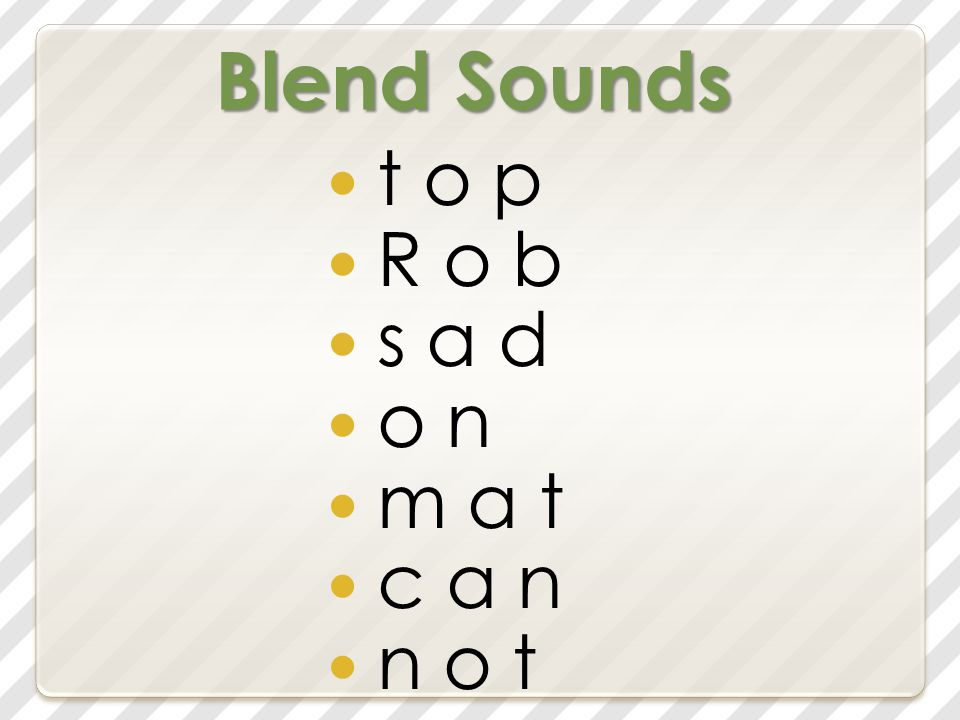 Blend Sounds t o p R o b s a d o n m a t c a n n o t