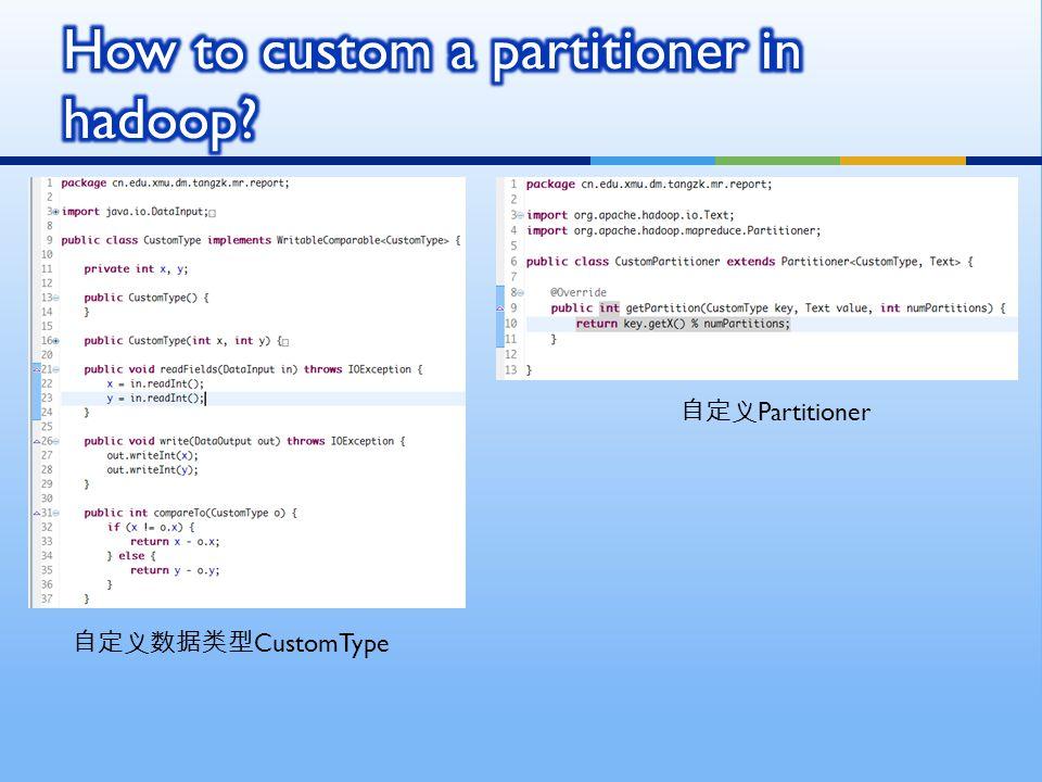 自定义数据类型 CustomType 自定义 Partitioner