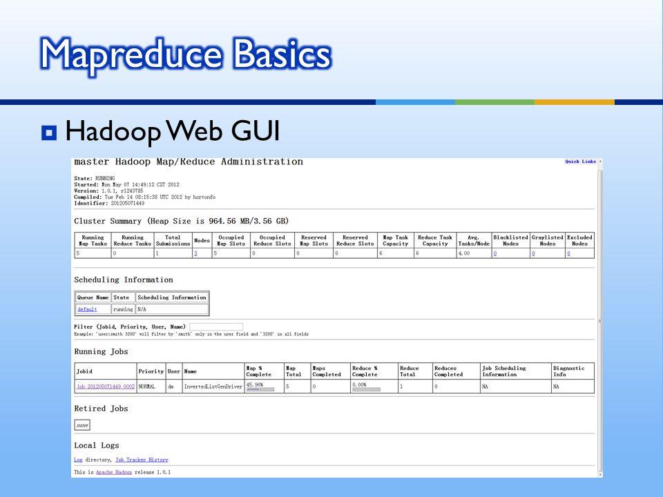  Hadoop Web GUI
