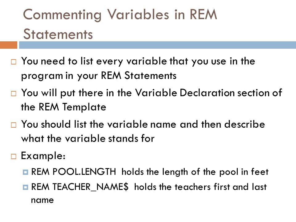Assignment  Complete REM and Variable Practice Worksheet