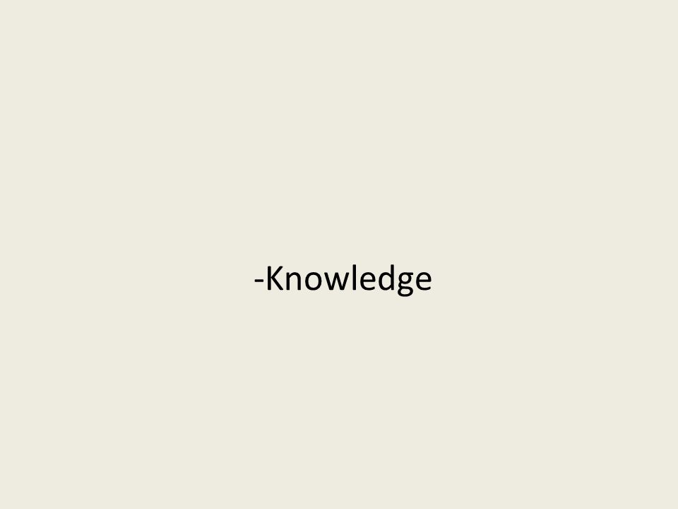 -Knowledge