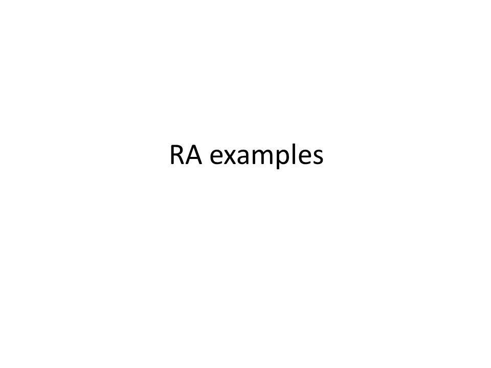 RA examples