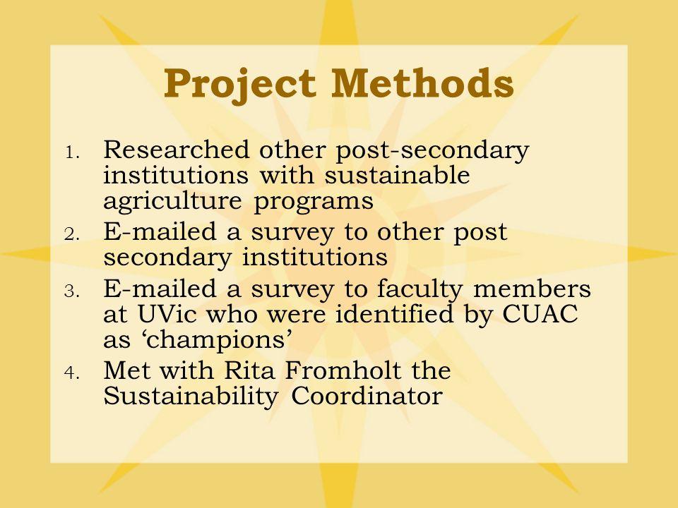 University Response: Campus Plan (2003) CJVI > CHCP (2006) Management Plan(2010): 1.