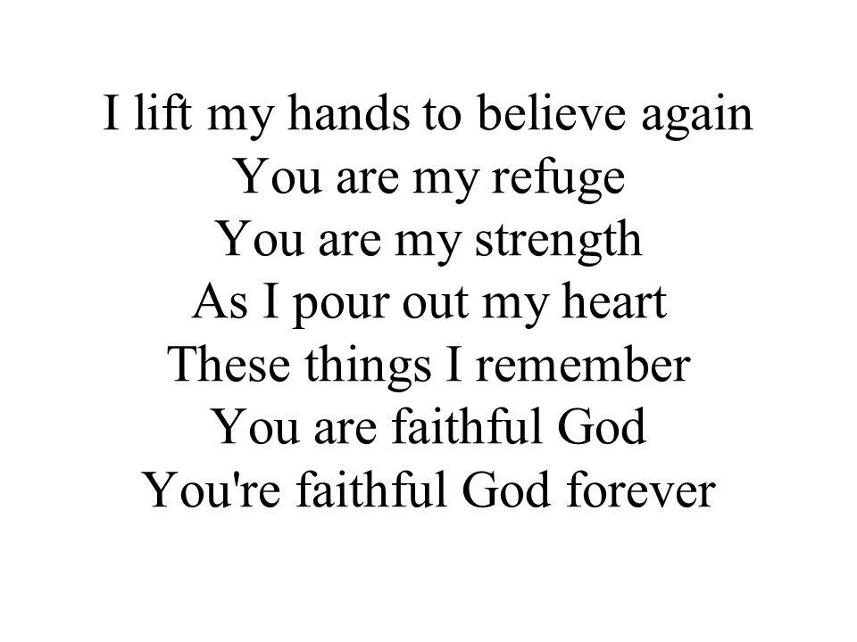 Let faith arise