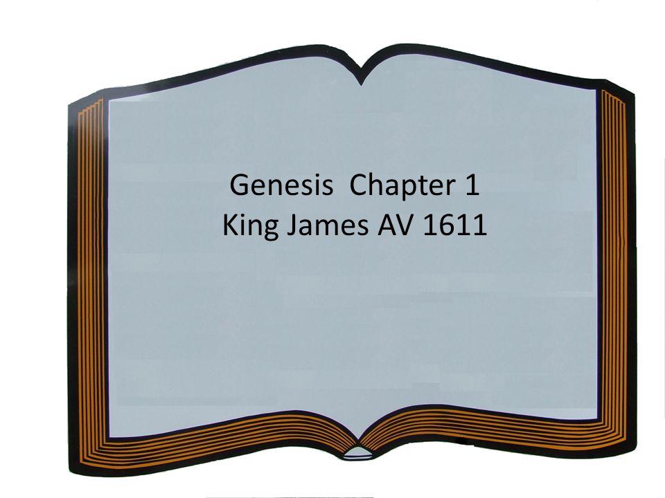 Genesis Chapter 1 King James AV 1611