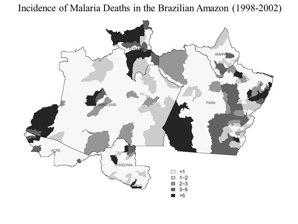 Incidence of Malaria Deaths in the Brazilian Amazon (1998-2002)