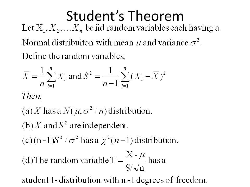 Student's Theorem