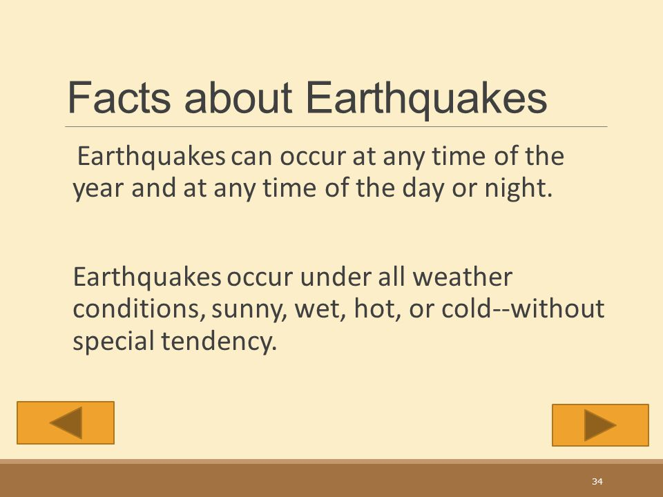 Measuring an Earthquake The Richter scale 1-10 33