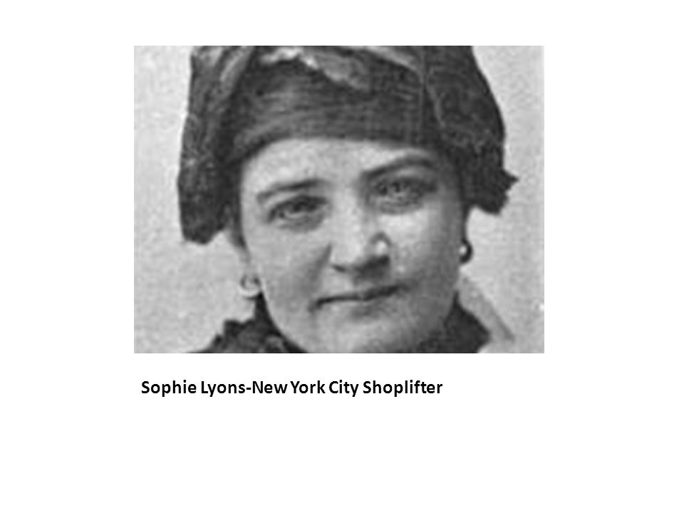 Sophie Lyons-New York City Shoplifter