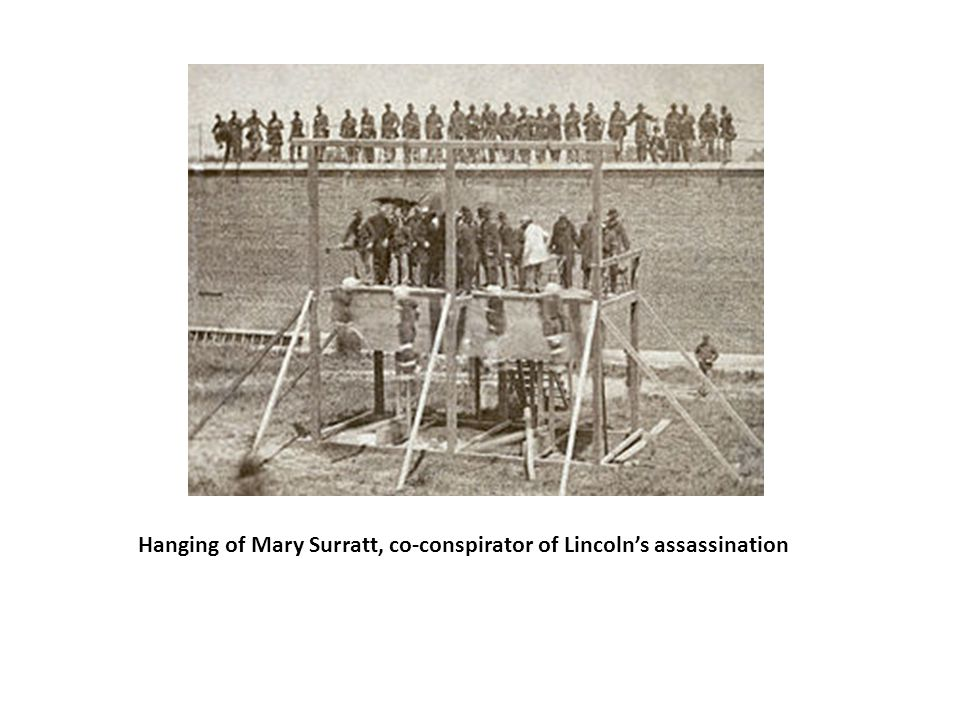 Hanging of Mary Surratt, co-conspirator of Lincoln's assassination