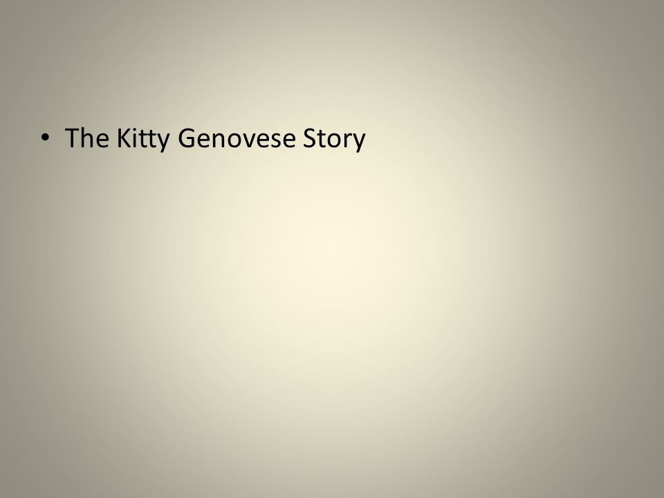 The Kitty Genovese Story