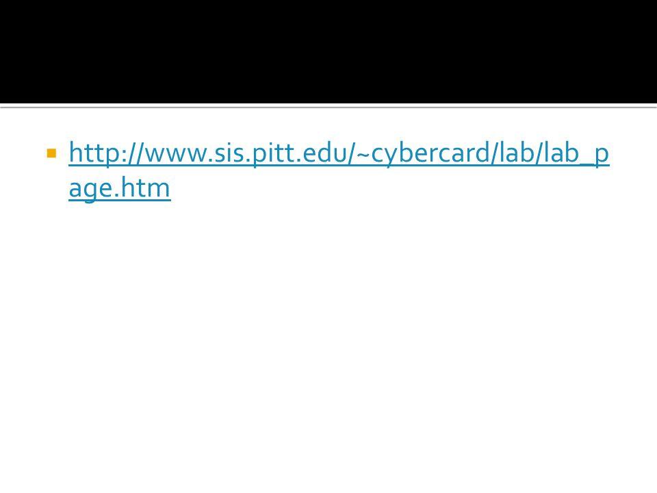 http://www.sis.pitt.edu/~cybercard/lab/lab_p age.htm http://www.sis.pitt.edu/~cybercard/lab/lab_p age.htm