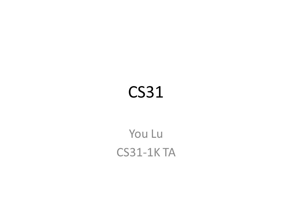 CS31 You Lu CS31-1K TA