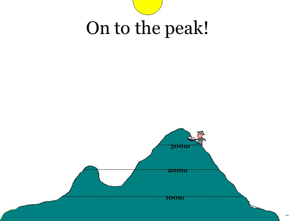 On to the peak! 100m 200m 300m