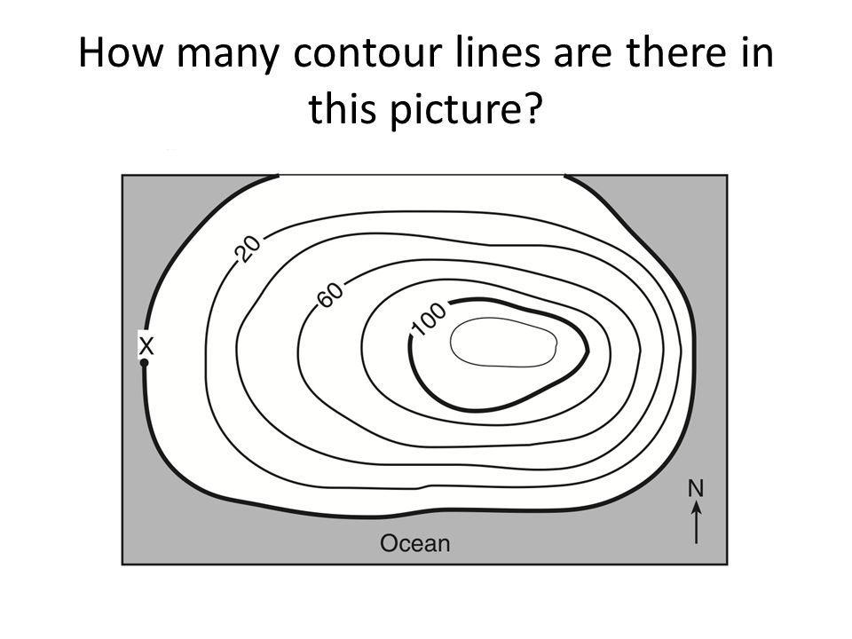 How many contour lines are there in this picture