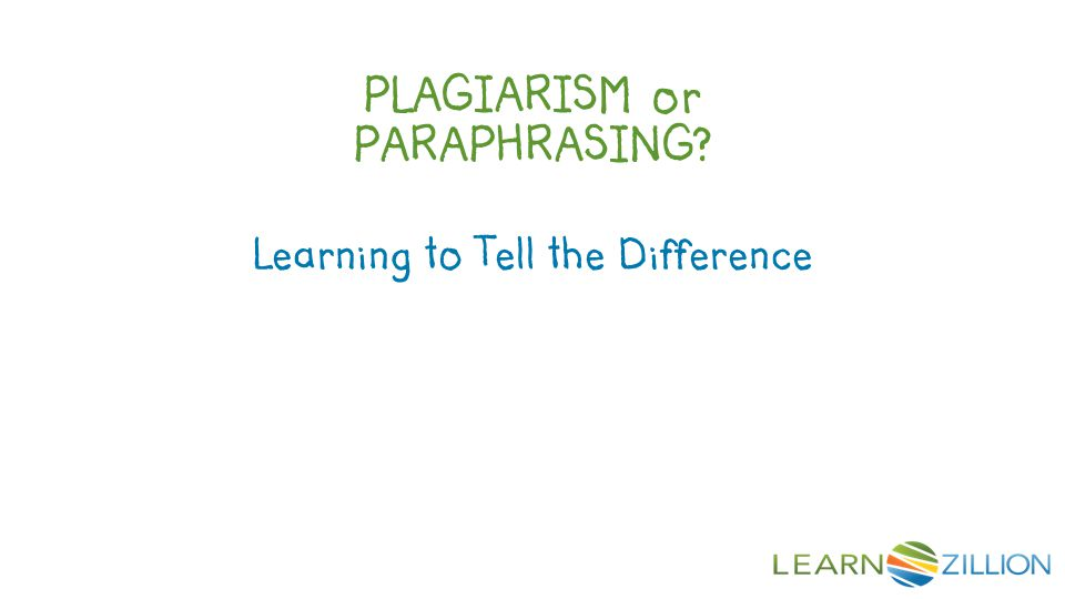 PLAGIARISM or PARAPHRASING? Learning to Tell the Difference