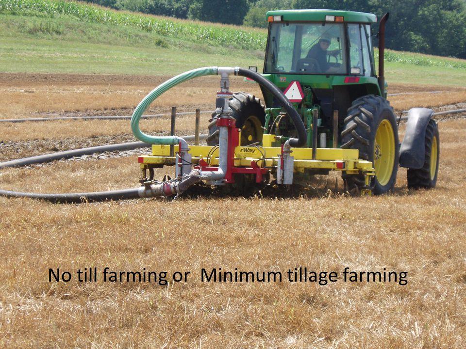No till farming or Minimum tillage farming