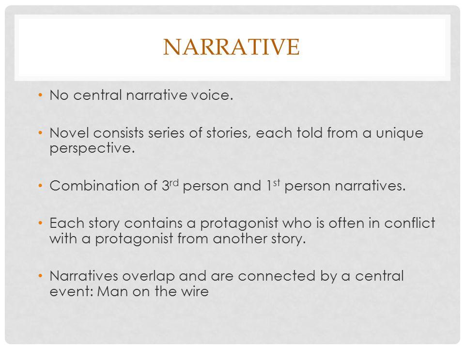 NARRATIVE No central narrative voice.