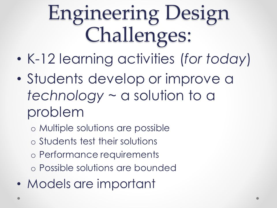Engineering – in Support of Math/Science.