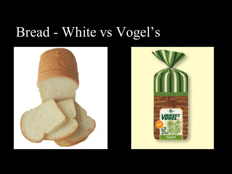 Bread - White vs Vogel's