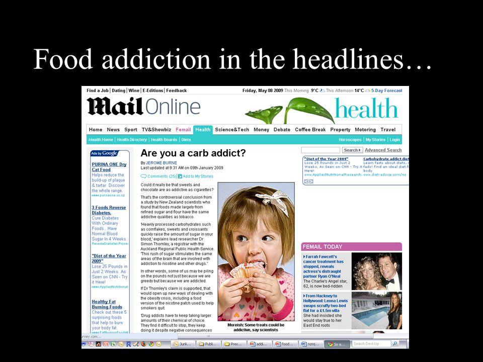 Food addiction in the headlines…