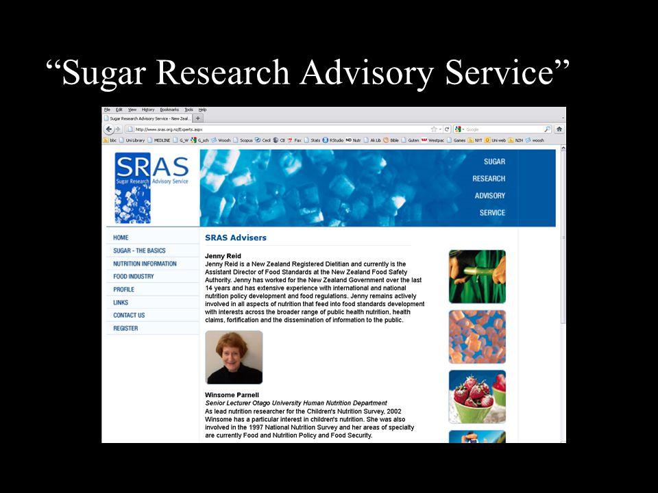 """""""Sugar Research Advisory Service"""""""