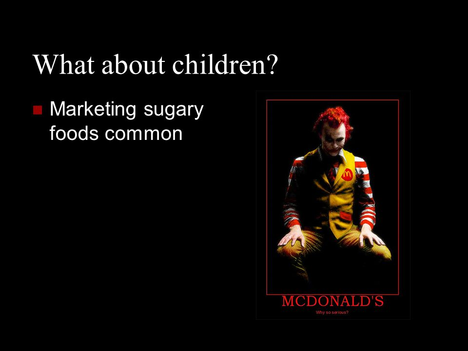 What about children? Marketing sugary foods common