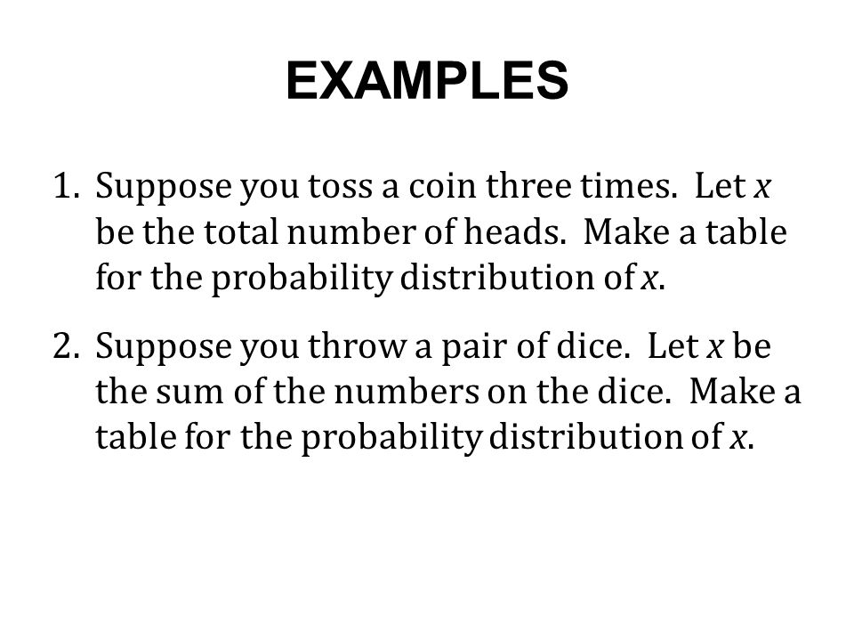 SAMPLE SPACE FOR ROLLING A PAIR OF DICE