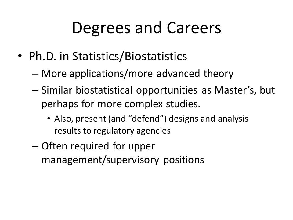 Degrees and Careers Ph.D.