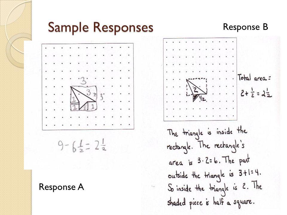 Sample Responses Response A Response B