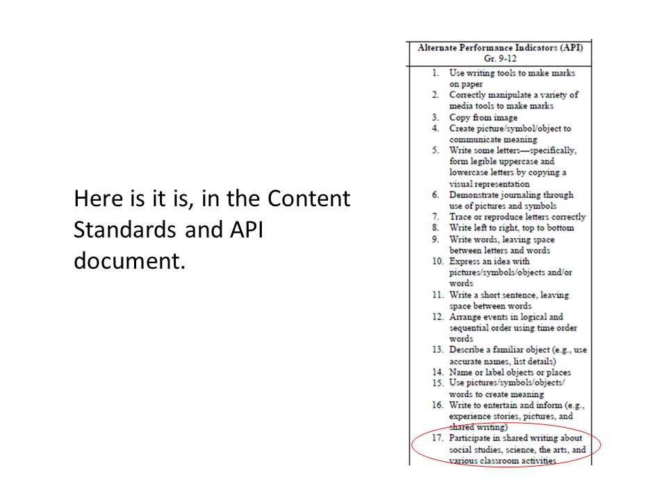 Here is it is, in the Content Standards and API document.
