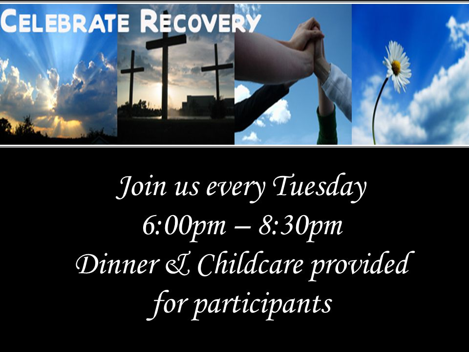 Join us every Tuesday 6:00pm – 8:30pm Dinner & Childcare provided for participants
