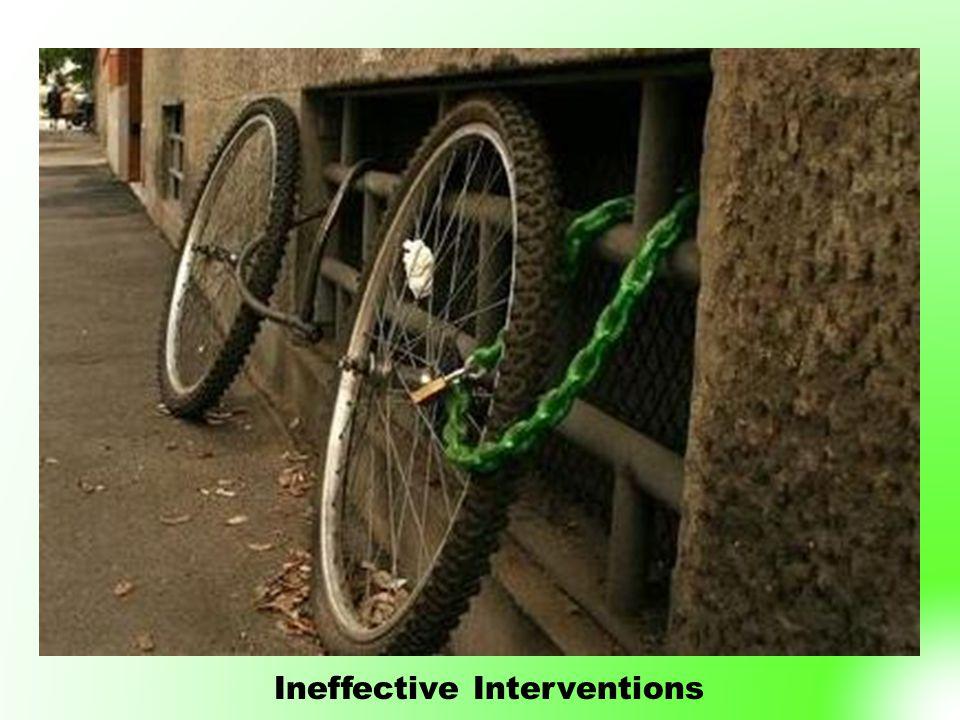 Ineffective Interventions