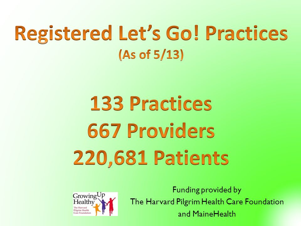 Funding provided by The Harvard Pilgrim Health Care Foundation and MaineHealth