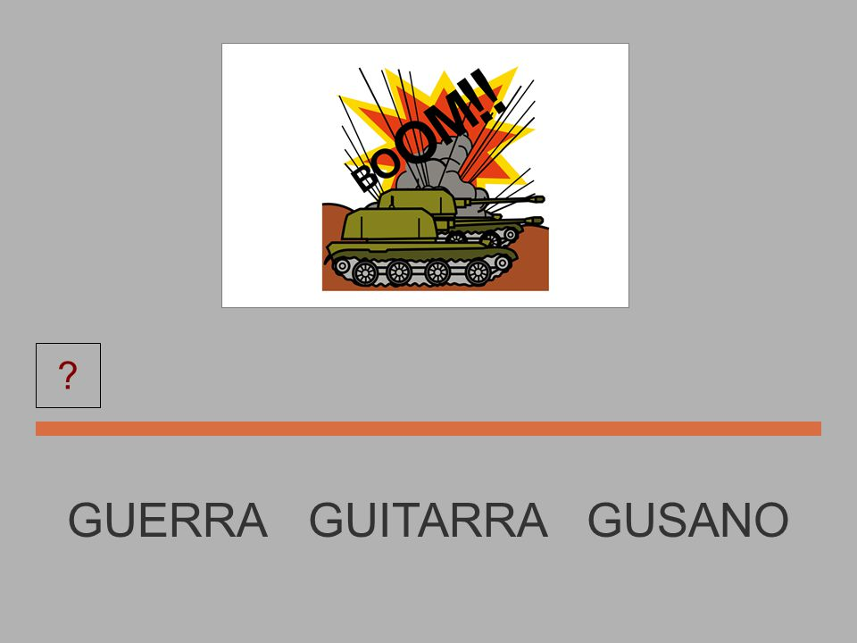 GUITARRA GUSANO GUERRA GUITARRA ?