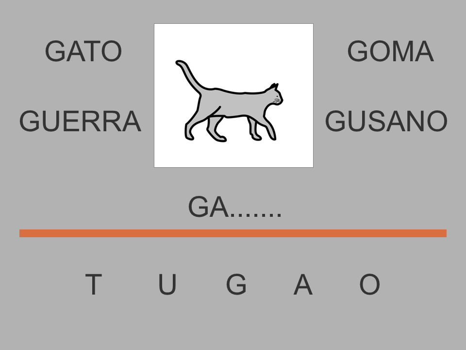 GATO T U G A O GOMA G.......... GUERRAGUSANO