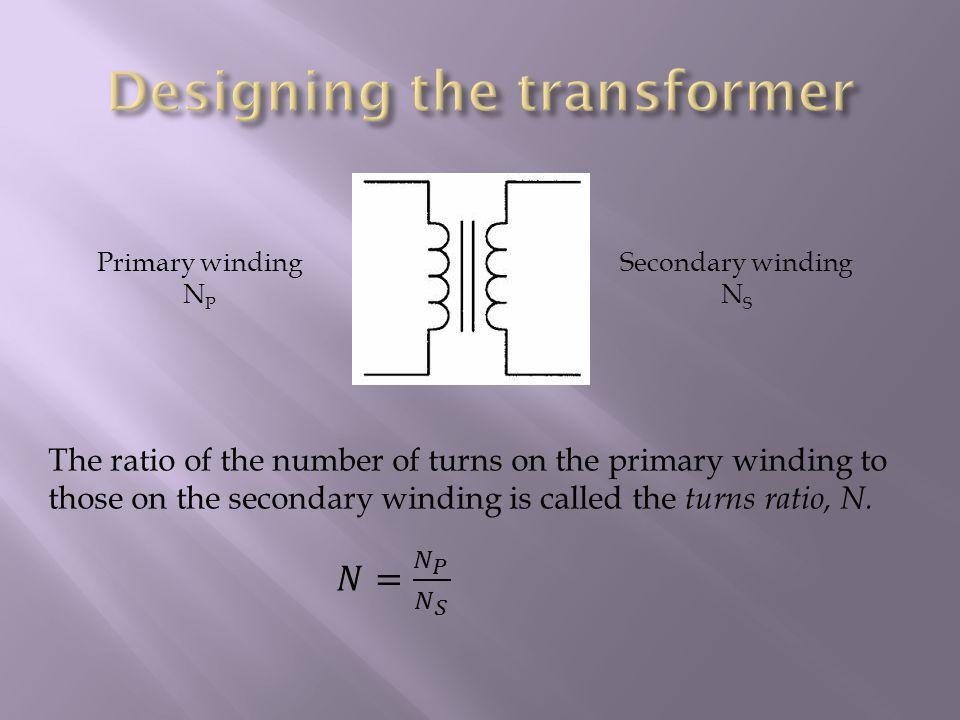 Primary winding N P Secondary winding N S