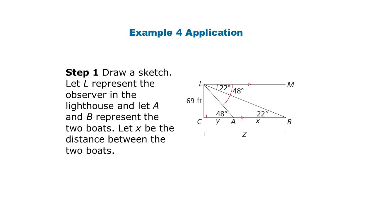 Example 4 Application Step 1 Draw a sketch.