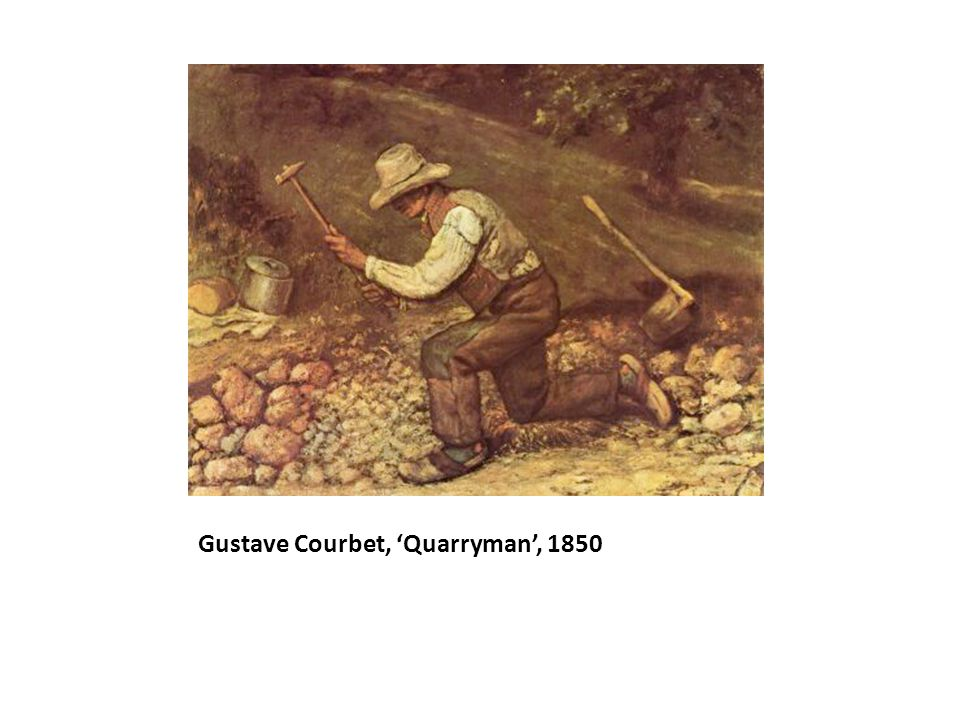 Gustave Courbet, 'Quarryman', 1850