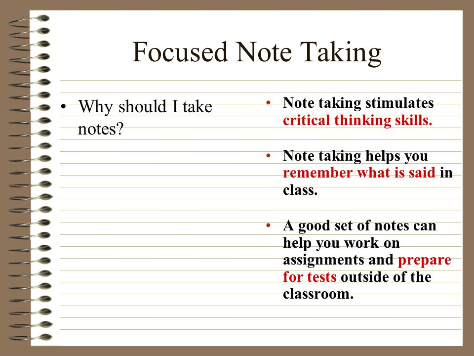 Focused Note Taking 1.Take out your Cornell Notes from yesterday.