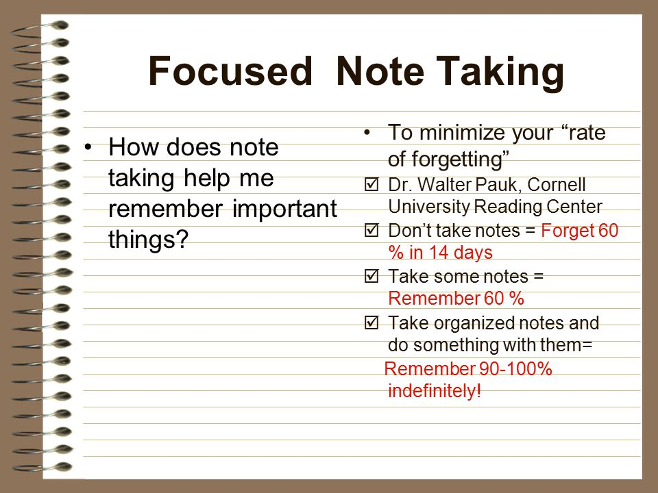 Focused Note Taking 1.Lets look at the notes on the back of your notes 2.
