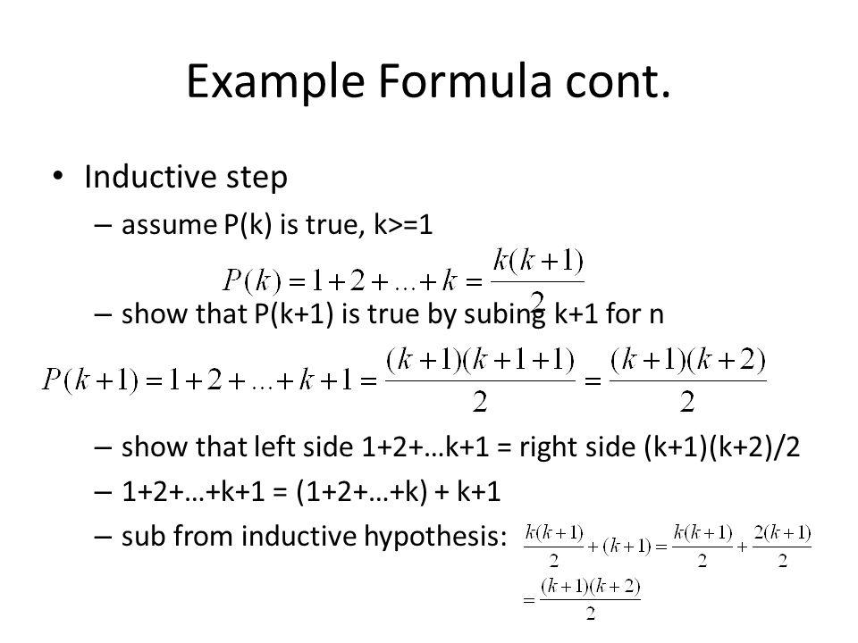 Example Formula cont.