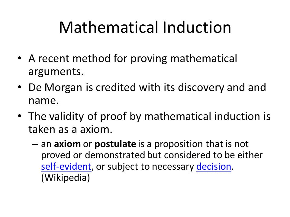 A recent method for proving mathematical arguments.