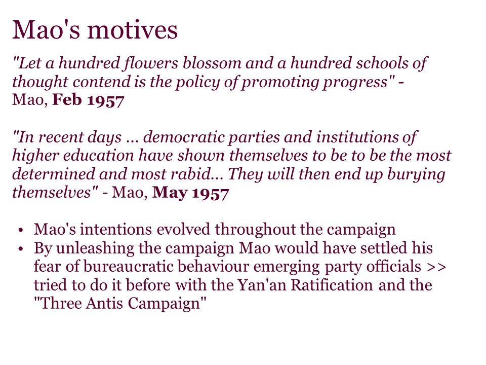 Mao's motives