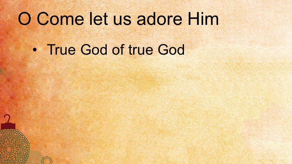 True God of true God